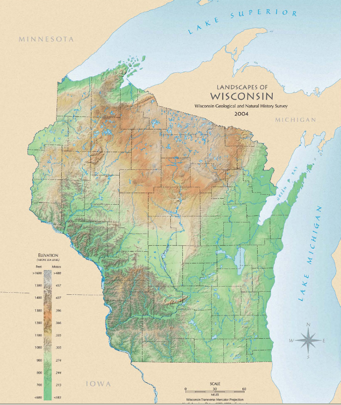 Environmental education in wisconsin landscapes of wisconsin map landscapes of wisconsin map 2004 free version online printed versions available for a small fee httpwgnhsuwexpubsm146 gumiabroncs Image collections